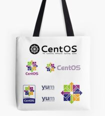 centos operating system linux sticker set Tote Bag