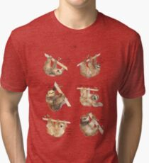 Camiseta de tejido mixto Perezosos