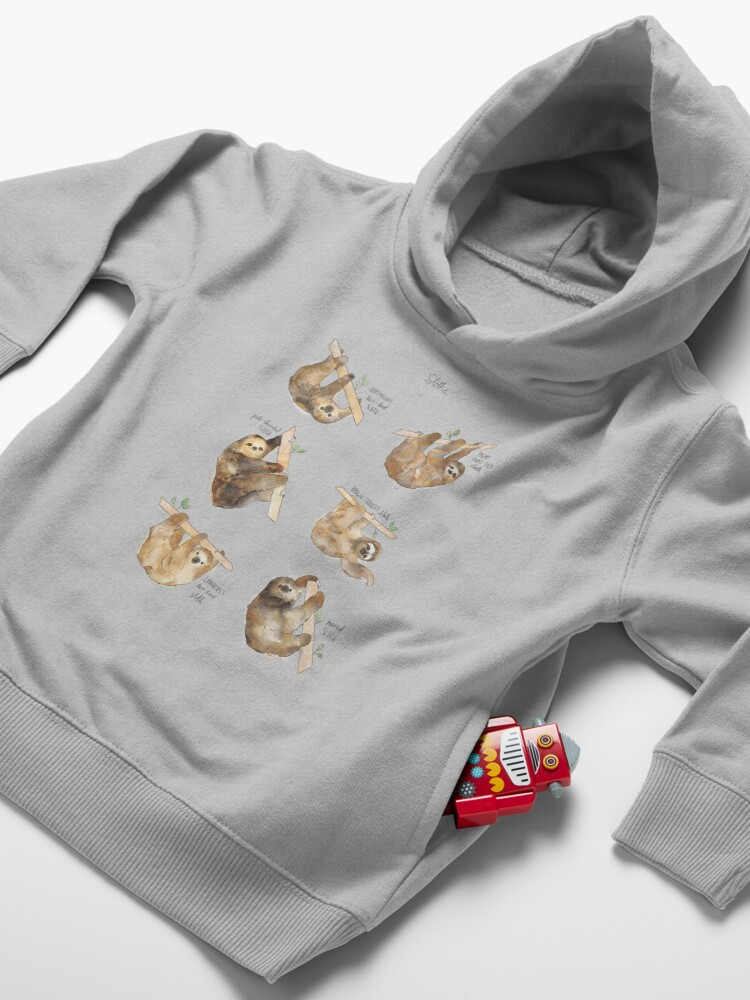 Alternate view of Sloths Toddler Pullover Hoodie