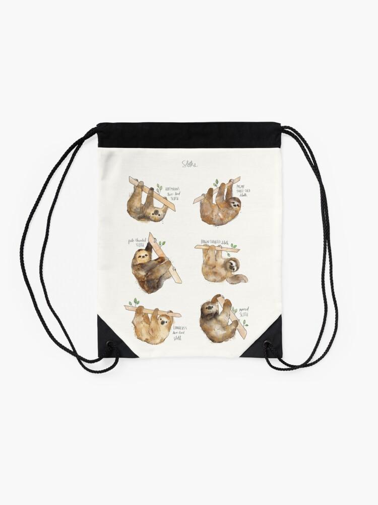 Alternate view of Sloths Drawstring Bag