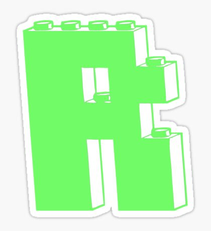 THE LETTER R Sticker
