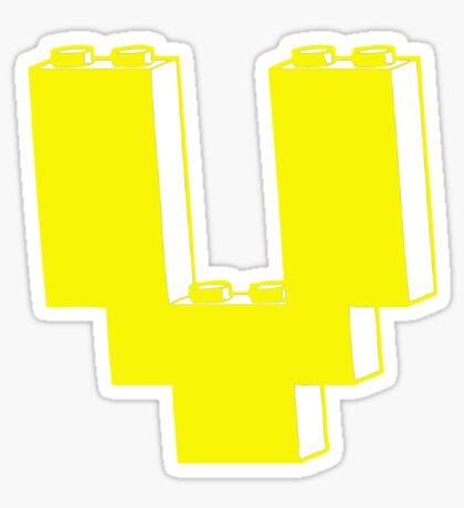 THE LETTER V Sticker