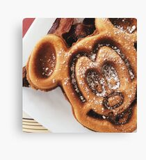 MICKEY shaped waffles  Canvas Print