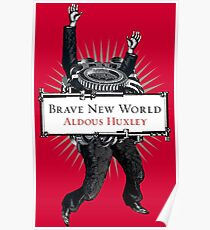 Brave New World - Aldous Huxley Cover Poster