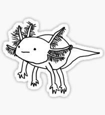 cute happy floaty axolotol print Sticker