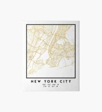 NEW YORK CITY NEW YORK CITY STREET MAP ART Art Board