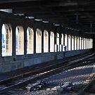 Eads Bridge Railroad by rebeccaeilering