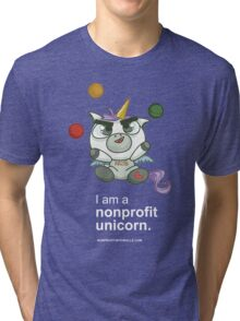 I AM A NONPROFIT UNICORN (dark)! Tri-blend T-Shirt