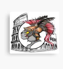 Coliseo romano soldado Romano bulldog Canvas Print