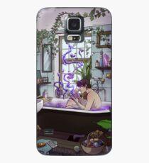Modernes männliches Hexen-Badezimmer Hülle & Klebefolie für Samsung Galaxy