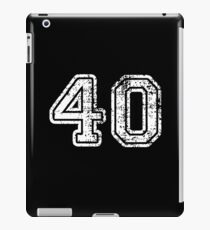Retro Vintage 40 - 40th Birthday - 1940 - Sports Jersey Numbers Style  iPad Case/Skin