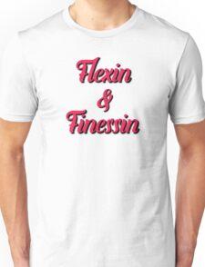Flexin & Finessin Cursive Text Unisex T-Shirt