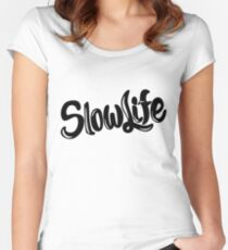 SlowLife Women's Fitted Scoop T-Shirt