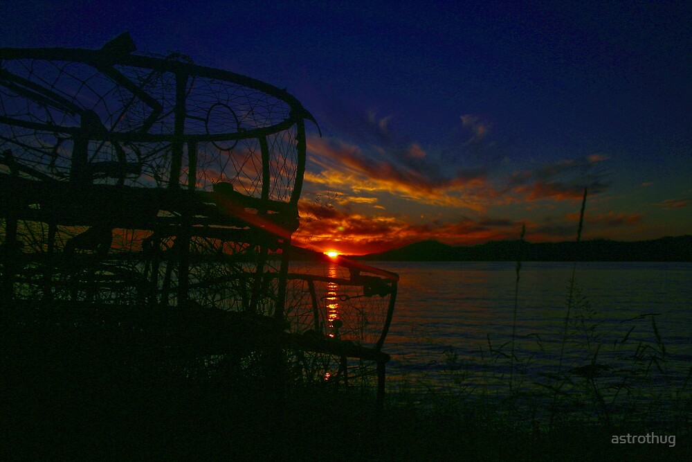 Sunset Crab traps by astrothug