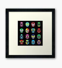 Luchador masks Framed Print