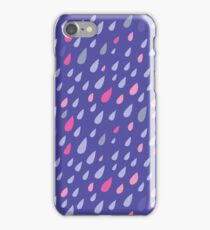 Blue Funny Drops iPhone Case/Skin