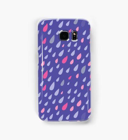 Blue Funny Drops Samsung Galaxy Case/Skin