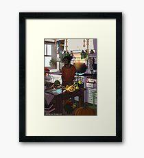 Modern Male Witch Kitchen Framed Print