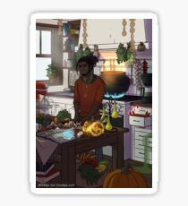 Modern Male Witch Kitchen Sticker