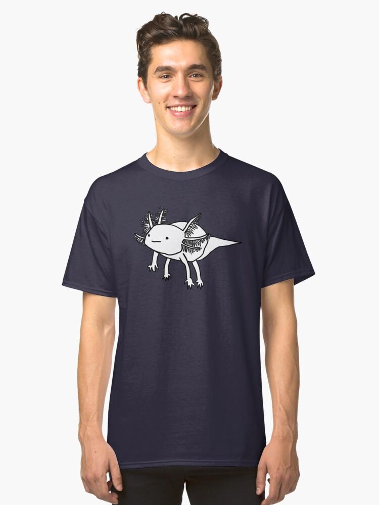 cute happy floaty axolotol print Classic T-Shirt Front