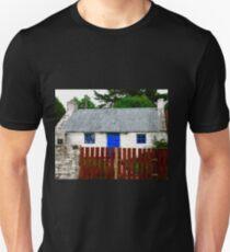 Irish Cottage with Blue Door, Inch Island, Donegal, Ireland T-Shirt