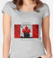 iFEED CANADA Women's Fitted Scoop T-Shirt