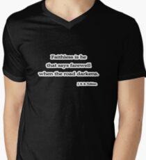 Faithless is he, J. R. R. Tolkien Men's V-Neck T-Shirt
