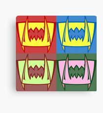 Multi Colored Fangs Canvas Print