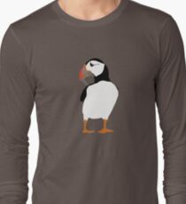 Puffins in green Long Sleeve T-Shirt