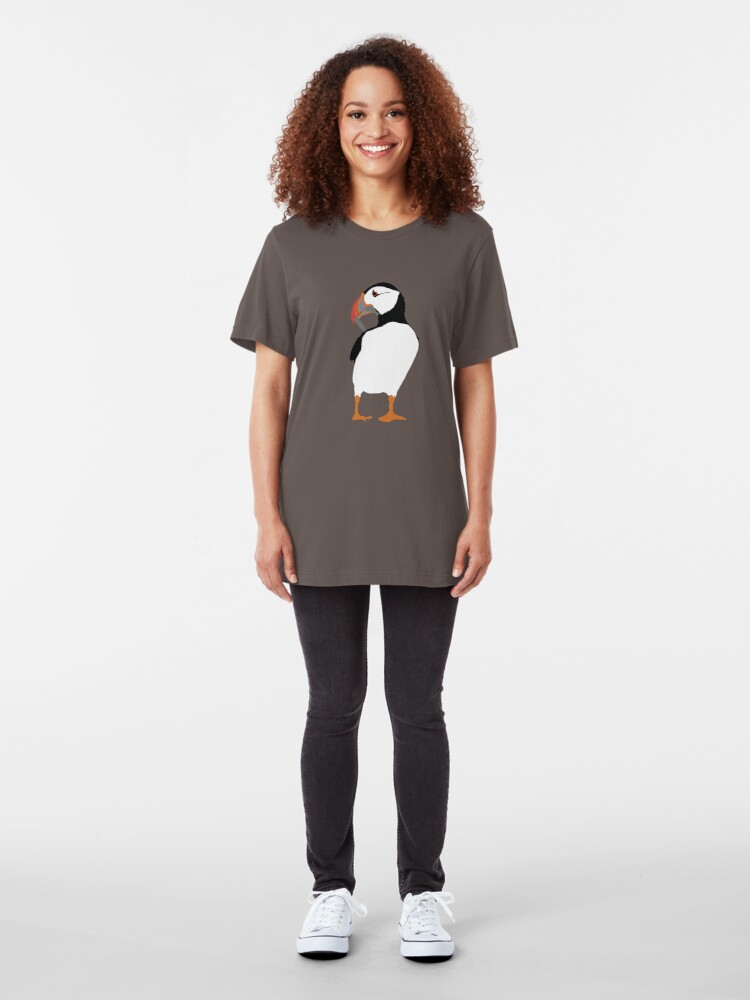 Alternate view of Puffins in green Slim Fit T-Shirt