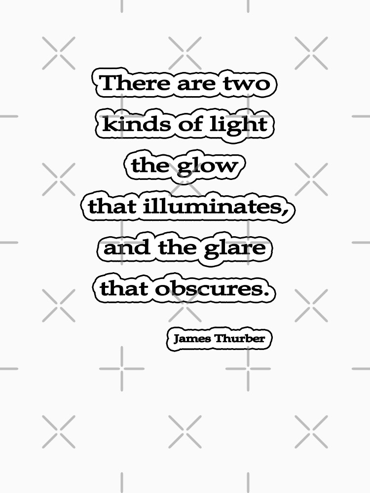 Two kinds of light, James Thurber by insanevirtue