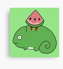 Watermelon Chameleon  Canvas Print