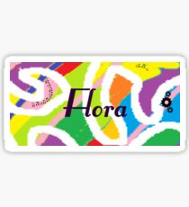 Flora - Original painting personalized with your name Sticker