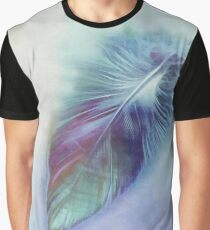 Blue Feather Graphic T-Shirt