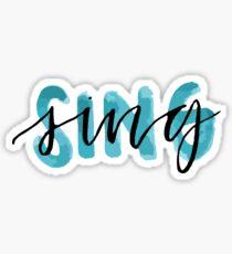 SING Sticker