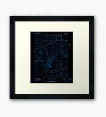 USGS TOPO Map Colorado CO Omar 233991 1951 24000 Inverted Framed Print