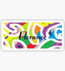 Florance - Original painting personalized with your name Sticker