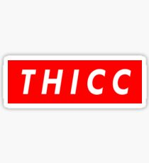 "Supreme ""THICC"" Logo Sticker"