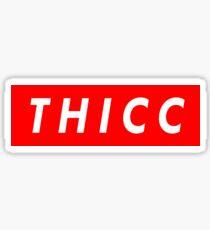 """Supreme """"THICC"""" Logo Sticker"""
