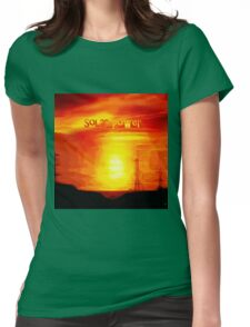 SOLAR POWER Womens Fitted T-Shirt