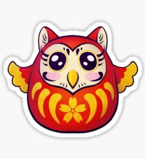 Owl Daruma Sticker