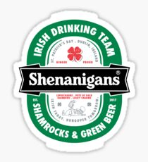 Saint Patrick's Day Shenanigans Beer Label Sticker