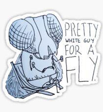 Pretty White Guy for a Fly Sticker