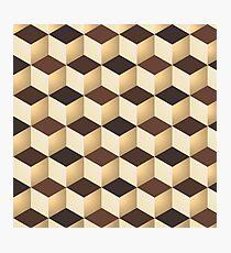 Geometric vector background Photographic Print