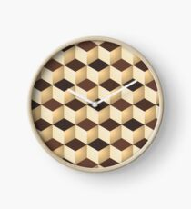 Geometric vector background Clock