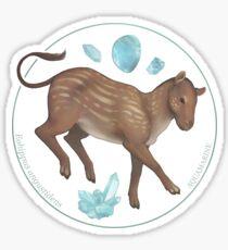 Eohippus angustidens with aquamarine Sticker