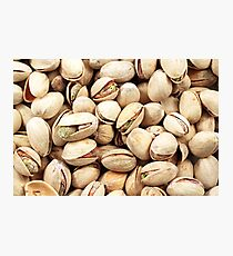 A close up image of pistachio nuts Photographic Print