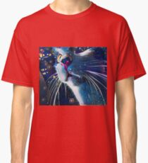 Night Prowler, Abstract cat after dark. Classic T-Shirt