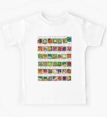 Gemüsesamen-Muster Kinder T-Shirt