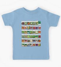 Vegetable seeds pattern Kids Tee